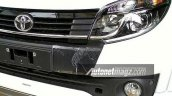 Toyota Rush facelift grille Indonesia specification