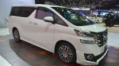 Toyota Vellfire front three quarter left at the 2015 Bangkok Motor Show