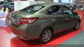 Toyota Vios rear three quarters at the 2015 Bangkok Motor Show