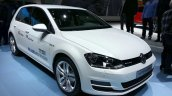 VW Golf TSI BlueMotion front three quarter at the 2015 Geneva Motor Show