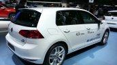 VW Golf TSI BlueMotion rear three quarter at the 2015 Geneva Motor Show