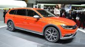 VW Passat Alltrack front three quarter at the 2015 Geneva Motor Show