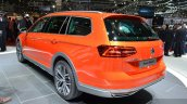 VW Passat Alltrack rear three quarter left at the 2015 Geneva Motor Show