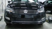 VW Vento facelift front spied undisguised