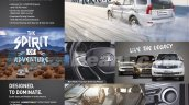 2015 Tata Safari Storme interior and features from brochure