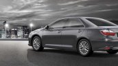 2015 Toyota Camry rear three quarter official image
