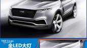 2015 Zotye T600 Coupe Concept front three quarter