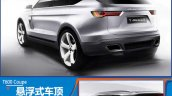 2015 Zotye T600 Coupe Concept rear three quarter