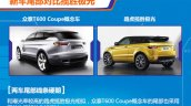 2015 Zotye T600 Coupe Concept vs Range Rover Evoque