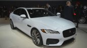 2016 Jaguar XF front three quarter left at the 2015 New York Auto Show