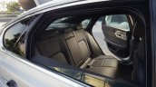 2016 Jaguar XF rear seat at the 2015 New York Auto Show
