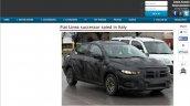 2017 Fiat Linea spied testing