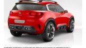 Citroen Aircross concept official image rear quarter