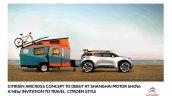 Citroen Aircross concept official image sketch