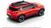 Citroen Aircross concept official image top rear view