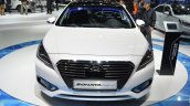 Hyundai Sonata Hybrid front at Auto Shanghai 2015