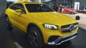 Mercedes GLC Coupe Concept front three quarter left at Auto Shanghai 2015