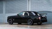 Rolls Royce Project Cullinan SUV rear spied