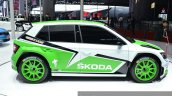 Skoda Fabia R5 side view at Auto Shanghai 2015