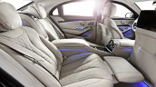 2015 Mercedes S600 Guard rear seat