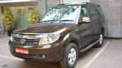 2015 Tata Safari Storme facelift front quarter Brown