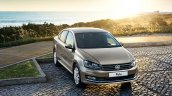 2015 VW Polo Sedan front three quarter Russia press image