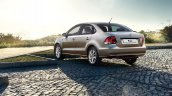 2015 VW Polo Sedan rear three quarter Russia press image