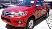 2016 Toyota Hilux Revo front quarter Red spied