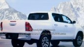 2016 Toyota Hilux Revo rear leaked