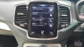 2015 Volvo XC90 central touchscreen india launch