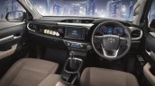 2016 toyota hilux interior previewed with brown shade