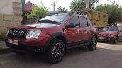Dacia Duster pick up front quarter spotted in the wild