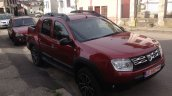 Dacia Duster pick up front three quarter spotted in the wild