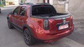 Dacia Duster pick up rear three quarter spotted in the wild