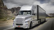 Freightliner Inspiration Truck front three quarter in motion press image