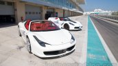 Michelin 125th Anniversary 458 and corvette front three quarters