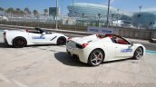 Michelin 125th Anniversary 458 and corvette rear three quarters