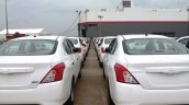 Nissan Sunny export line up rear