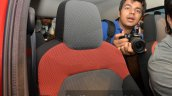 Renault Kwid seat fabric India unveiling