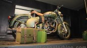 Royal Enfield Classic 500 Limited Edition Battle green despatch rear three quarter unveiled at new flagship store