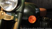 Royal Enfield Classic 500 Limited Edition Battle green despatch turn indicators unveiled at new flagship store