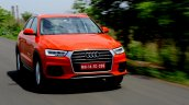 2015 Audi Q3 facelift Red tracking India Review