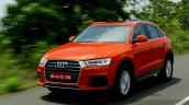 2015 Audi Q3 facelift front quarter tracking shot India Review