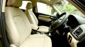 2015 Audi Q3 facelift front seat India Review
