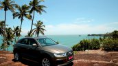 2015 Audi Q3 facelift front three quarter India Review