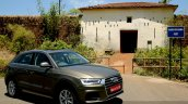 2015 Audi Q3 facelift front three quarters India Review