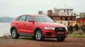 2015 Audi Q3 facelift red front quarter India Review
