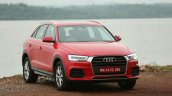 2015 Audi Q3 facelift red front quarters India Review