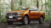2015 Ford Ranger Wildtrak front quarter launched in Thailand