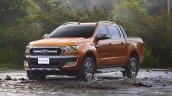 2015 Ford Ranger Wildtrak front three quarter launched in Thailand